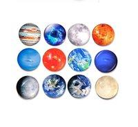 Wholesale glass refrigerator magnets for sale - Group buy Moon Stars Planet fridge magnet Solar system refrigerator magnets glass Cabochon Stickers decor Fridge Magnets Stickers DHL Free