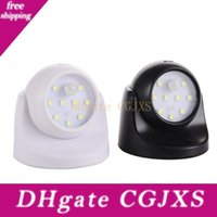 Wholesale bead night light for sale - Group buy 9 Lamp Beads Led Wall Lights Motion Sensor Night Light Degree Rotation Wireless Auto Pir Ir Infrared Detector Security Lamp Q0316