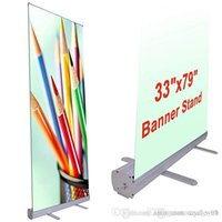 Wholesale roll up banners stands for sale - Group buy 33 quot x79 quot Aluminum Retractable Roll up Banner Stand Promotion Sign for Conference Display Trade Show with a Carrying Bag