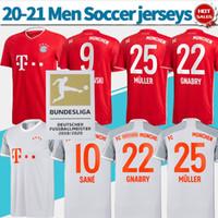 Wholesale short uniforms resale online - Munich shirt Home red soccer jersey LEWANDOWSKI MULLER Men away soccer shirt SANE GNABRY customized Football uniforms