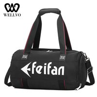Wholesale women weekender bag resale online - Fashion Multifunctional Travel Bag Women Hand Fitness Duffle Bag For Women Nylon Weekender Shouldrer Bags Tote Letter XA766WB