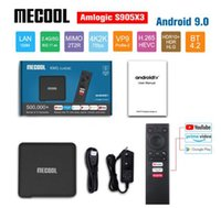 Wholesale andriod tv boxes resale online - Mecool KM1 ATV Google Certified Andriod Tv Box G G G G G Amlogic S905X3 T2R Wifi K Player Voice Control Youtube