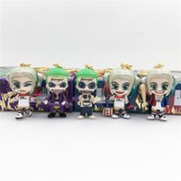 Wholesale figures resale online - Suicide Team X Task Force Action Figure Clown Girl Halle Kui Yin Clown Doll Key Chain Buckle