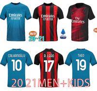 Wholesale jersey soccer milan for sale - Group buy IBRAHIMOVIC AC Milan Soccer Jerseys CALHANOGLU REBIC THEO PAQUETA Football Shirt ROMAGNOLI Fans Version Milan Jersey Kids Kit XXL