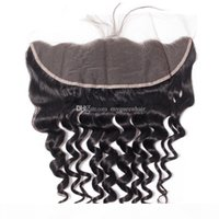 Wholesale My queen brazlian human hair Swiss hd lace closure frontal loose wave with baby hair looks very natrual