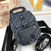 Wholesale business backpack resale online - 9003 Jacquard Mini Saddle Bag Backpack MEN FASHION BACKPACKS BUSINESS BAGS TOTE MESSENGER BAGS SOFTSIDED LUGGAGE ROLLING BAG