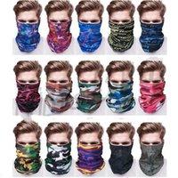 Wholesale multi function head scarf resale online - Camouflagl Magic Bandanas Outdoor Cycling Scarf Multi function Head Scarves Seamless Creative Headband Scarf Bandana Masks DHD1235