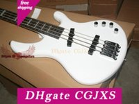 Wholesale chinese bass guitar resale online - Promotion Chinese Custom White Strings Electric Bass Guitar Hot Sale