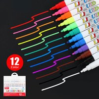 12 Color set Liquid Erasable Chalk Marker Pen For Glass Windows Blackboard Markers Teaching Tools Office Material Escolar