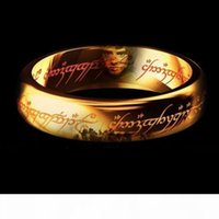 Wholesale ring width size resale online - Brand New Fashion Colol jewelry Classic Men Women LOTR K Gold GP Wedding Band Rings for Women Men Pendant Width mm Size