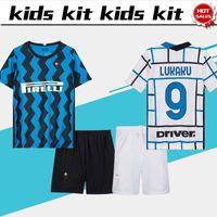Wholesale kits homes resale online - Kids Kit inter soccer jersey home blue LUKAKU Child shirt away white LAUTARO ERIKSEN Boys Customized Football uniform