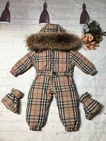 Wholesale baby snow clothing for sale - Group buy Winter New born Baby Clothes duck s Down Jacket Baby Boys Girls Thickening Jumpsuits with Real Fur Kids Snow Suit
