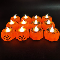 Wholesale ghost night light for sale - Group buy Halloween LED pumpkin lantern bar KTV decoration props LED glowing candle light ghost festival supplies night light pumpkin lantern EWC921