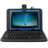 Wholesale tablet cases usb keyboards resale online - 7 Inch Keyboards Leather Cover Cases Flip Stand Mini Usb Micro Usb For Q88 Tablet Pc