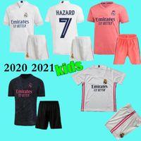 Wholesale football jerseys cotton for sale - Group buy 20 kids real madrid Home white soccer jersey ASENSIO BALE LUCAS V MORATA JAMES RAMOS ISCO MODRIC away black child Football Shirt