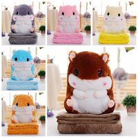 Wholesale hamster stuff toy for sale - Group buy Hamster Pillow Blanket Cartoon Soft Plush Pillow Blankets Plush blanket Bedroom Cushion Stuffed Toy Sleeping Pillow Gift AHC898