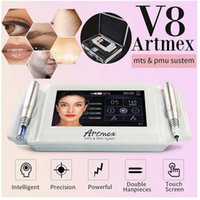 Professional 2 in 1 Artmex V8 Permanent Makeup Tattoo Machine Eye Brow Lips Rotary Pen Microblading MTS PMU System DHL Fast Shipping