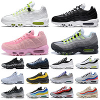 womens basketball shoes groihandel-Nike Air Max 95 airmax 95s Shoes Running Schuhe Herren Damen Throwback Future Greedy Triple Weiß Gelb Pull Tab Schwarz Rot Bred Designer Sports Sneakers 36-45