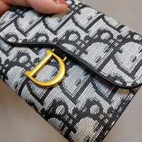Wholesale Designer Walletins New Style European and American D Big Name Womens Small Wallet Womens Short Style Tri Fold Student Korean Style Coin Purs