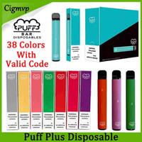 Wholesale portable pods for sale - Group buy Puff Plus Disposable Device Pod Starter Kit Puff mAh Battery ml Cartridge Vape Empty Pen Portable Vaporizer PK Puff XXL Flow Xtra