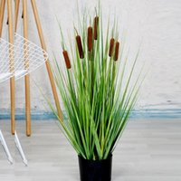 Wholesale artificial grasses resale online - Simulation Plant Reed Grass Bonsai Home Interior Nordic Simple Decoration Green Plant Potted Ornaments EEA1956