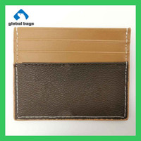 Wholesale male female bags for sale - Group buy d esigner bags womens fashion original male and female card holder leather public card package credit card package