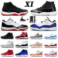 rétro 11 jams spatiaux achat en gros de-25th Anniversary air jordan retro 11 AJ des Chaussure de basket-ball jordans 11s jumpman CONCORD 45 23 Cap and Gown Space Jam nouvelle arrivée hommes femmes baskets basses baskets