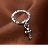 Wholesale making silver rings for sale - Group buy 2018 new sterling silver vintage jewelry American antique silver hand made designer band rings with cross tassel pendant for women