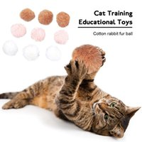 Wholesale fur claws resale online - Cat Cotton pc Toys Pet Toy Color Ball Supplies Educational Cat Rabbit Grinding Filled Claw Training Products Fur KGSjk homes2011
