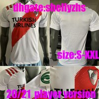 Wholesale river plate football shirt resale online - Player version River Plate PONZIO Soccer Jerseys home white Away man SCOCCO CASCO MARTINEZ RED PEREZ FERNANDEZ FOOTBALL SHIRTS