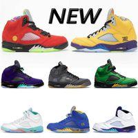 Wholesale grape 5s resale online - New Jumpman s OG mens women Basketball shoes Alternate Bel grape Top travis scotts triple black oil grey reflective Sneakers