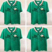 Wholesale ireland soccer jerseys for sale - Group buy 1990 Ireland retro soccer jersey world cup Ireland home green Soccer Shirt National Team Customized Away white Football uniforms Sales
