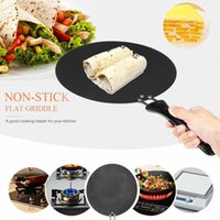Wholesale flat iron pan for sale - Group buy 30cm Nonstick Pan Frying Pancake Pan Household Flat Pan Anti scalding Handle Steak Fried Pans Suitable for all kinds stoves T200523