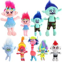 diamond cooper venda por atacado-9 estilos de filme Trolls Plush Dolls Toy Poppy Haper Filial Dj Suki Creek Guy Diamante Cooper Pluche Troll Dolls