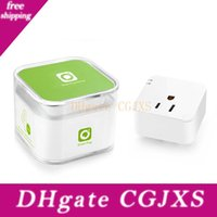 Wholesale free wifi plug resale online - Free Dhl Wireless Wifi Smart Plug Ios Android Smartphone App Timer Switch Us Socket Remote Control By English App Wifi Enhanced Function
