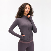 2020 new double-sided sanding yoga coat elastic slim-fit zipper fitness thread sports jacket for women autumn and winter