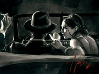 Wholesale car art oil paintings for sale - Group buy Fabian Perez Paco and darya in Car Home Decor Handpainted HD Print Oil Painting On Canvas Wall Art Canvas Pictures