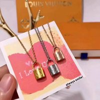Wholesale horseshoe pendant necklace silver for sale - Group buy fashion designer jewelry women necklace gold lock pendant designer necklace high quality elegant silver necklace and earrings bracelets suit