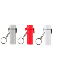 Wholesale Waterproof Lighter Case Windproof colors Transparent red grey popular Lanyard for Keys Chain straps