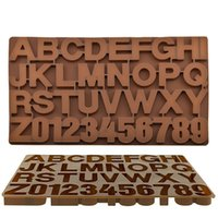 Wholesale chocolate cakes resale online - Alphabet Silicone Mold Figure Letters Chocolate Mold D Cake Decorating Tools Tray Fondant Molds Jelly Cookies Baking Mold AHC926
