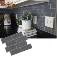 Wholesale homes decors for sale - Group buy Grey Brick Subway Tile Peel and Stick Self Adhesive Wall Decal Sticker DIY Kitchen Bathroom Home Decor Vinyl D