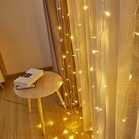 Wholesale led flow lights for sale - Group buy LED Waterfall Light Flowing Water Curtain Lights String Decor Light Wedding Background Garden party Holiday Decor Props EU Plug DHF1344
