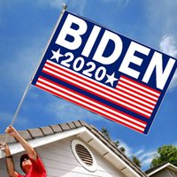 fertigen sie flagge besonders an groihandel-Biden Yard Sign Biden 2020 US Presidential Campaign Flagge Supplies 90 * 150cm US Election Flag Customized Polyester Flag EWD944
