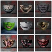 Wholesale 2020 Christmas Halloween Big Mouth Funny Party Expression D Printing Protection Adjustable Insertable Chip Ear Band Dust and Haze Mask