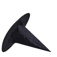 Wholesale witch hats for sale - Group buy Masquerade Party Halloween Witch Hat Decoration Adult Women Black Witch Hat Wizard Top Caps Halloween Costume Accessory Party Cap VT1496
