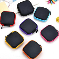 Mini Zipper Earphone box Protective USB Cable Organizer Spinner Storage Bags Headphone Case PU Leather Earbuds Pouch