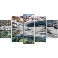 Wholesale cool abstract art paintings resale online - 5 Mountain Abstract Cool Home Decor Gifts Poster Wall Art Canvas Prints Painting Pictures For Living Room Modular Framework