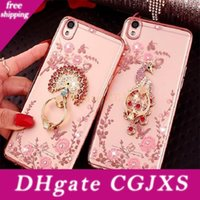 Wholesale secret note for sale - Group buy Bling Diamond Ring Holder Case Secret Garden Flower Crystal Tpu Cover For Iphone Pro Max Xr Xs s Plus Samsung S8 S9 Plus Note