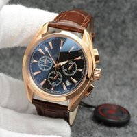 Wholesale quartz tachymeter watch resale online - High Grade MM Quartz Chronograph Mens Watches Red Hands Stainless Steel Bracelet Fixed Bezel With A Top Ring Showing Tachymeter Markings