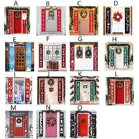 Wholesale shopping mall christmas decorations for sale - Group buy Christmas Couplet Banner Porch Sign Christmas Door Family Party Shop Mall Holiday Hanging Decoration Patterns OWB1011